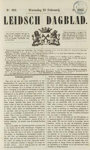 Leidsch Dagblad 1863-02-25