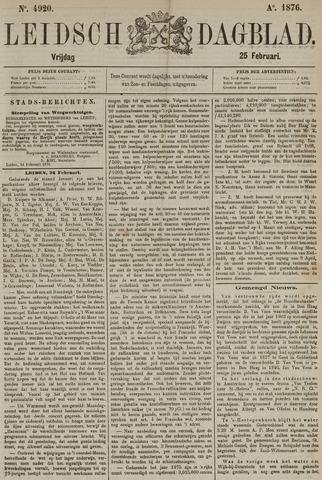 Leidsch Dagblad 1876-02-25