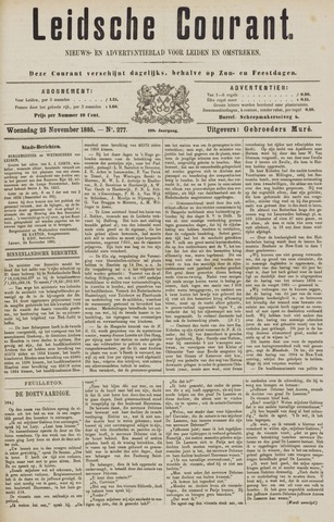 Leydse Courant 1885-11-25