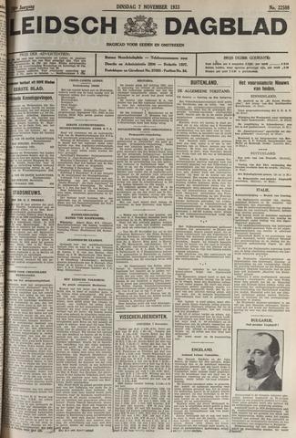 Leidsch Dagblad 1933-11-07