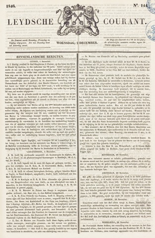 Leydse Courant 1846-12-02