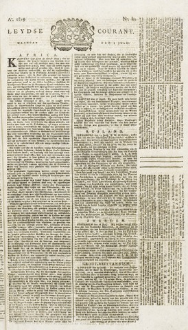 Leydse Courant 1819-07-05