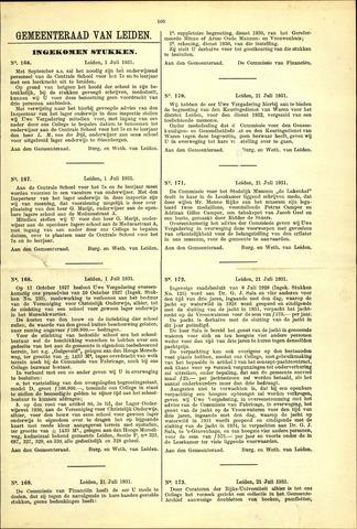 Handelingen van de Raad 1931-07-01