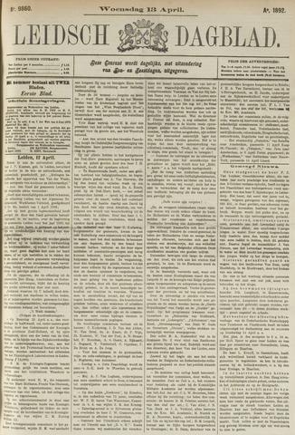 Leidsch Dagblad 1892-04-13