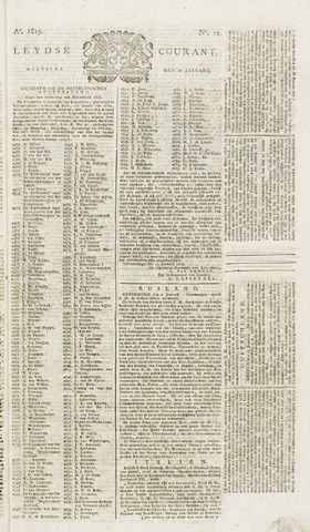 Leydse Courant 1819-01-27