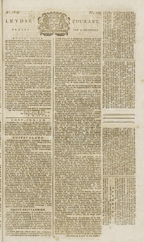 Leydse Courant 1819-09-10