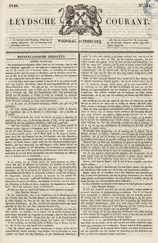Leydse Courant 1846-02-25