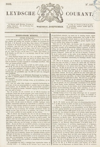 Leydse Courant 1852-09-29