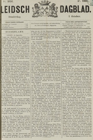 Leidsch Dagblad 1868-10-01