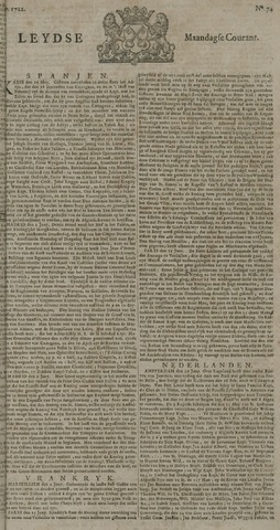 Leydse Courant 1722-06-22