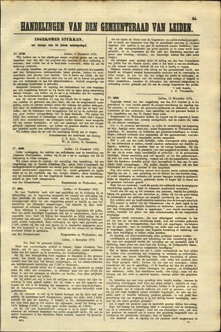 Handelingen van de Raad 1875-11-05
