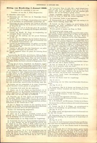 Handelingen van de Raad 1900-01-04