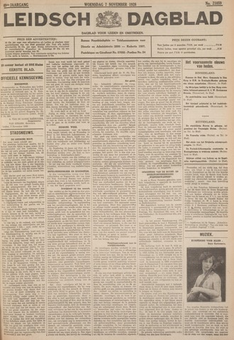 Leidsch Dagblad 1928-11-07