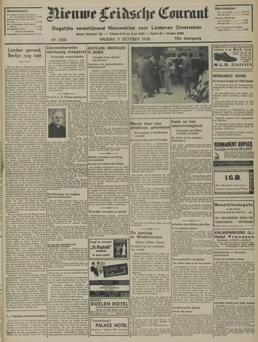 Nieuwe Leidsche Courant 1938-10-07