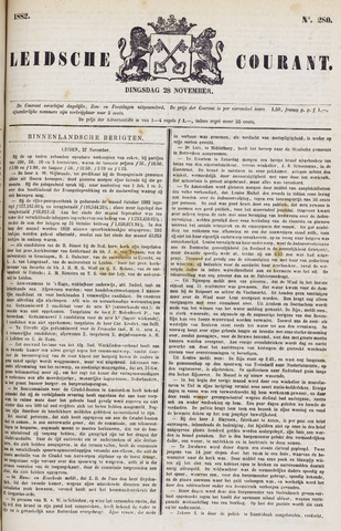 Leydse Courant 1882-11-28