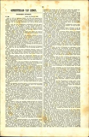 Handelingen van de Raad 1886-02-22