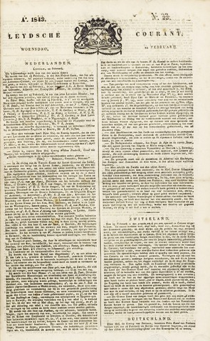 Leydse Courant 1843-02-22