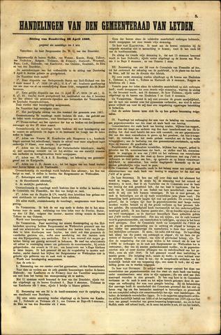 Handelingen van de Raad 1868-04-30