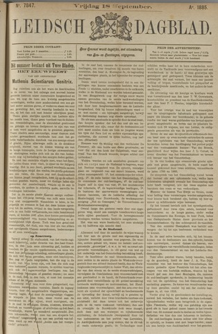 Leidsch Dagblad 1885-09-18