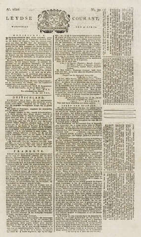 Leydse Courant 1820-04-26