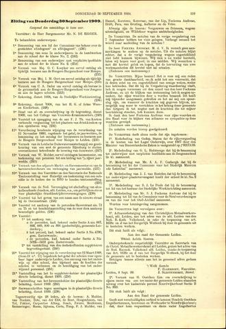 Handelingen van de Raad 1909-09-30