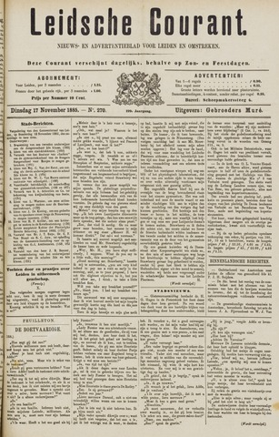 Leydse Courant 1885-11-17