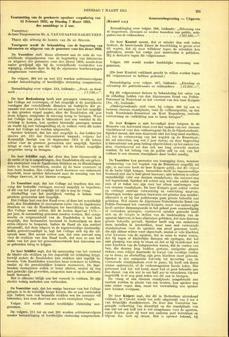 Handelingen van de Raad 1933-03-07