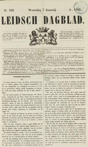 Leidsch Dagblad 1863-01-07