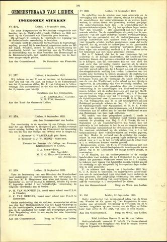Handelingen van de Raad 1922-09-04