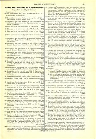 Handelingen van de Raad 1927-08-29