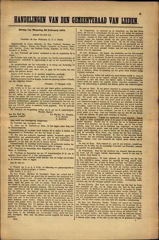 Handelingen van de Raad 1872-02-20