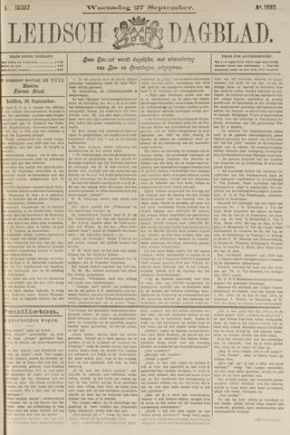 Leidsch Dagblad 1893-09-27