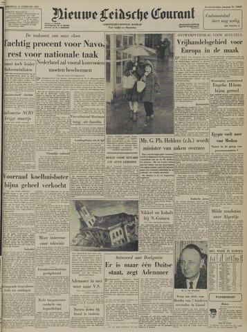 Nieuwe Leidsche Courant 1957-02-14