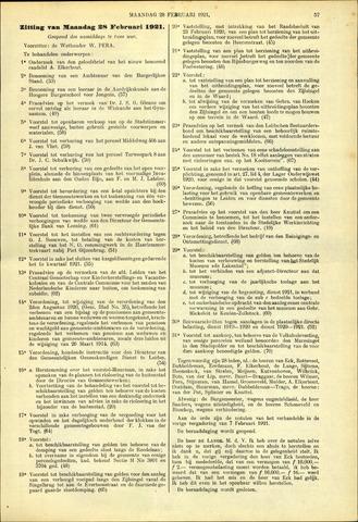 Handelingen van de Raad 1921-02-28