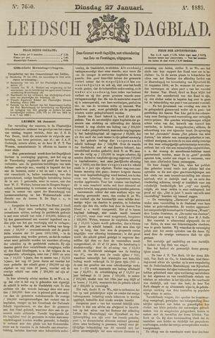 Leidsch Dagblad 1885-01-27
