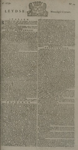 Leydse Courant 1739-01-26