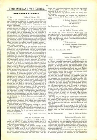 Handelingen van de Raad 1907-02-01