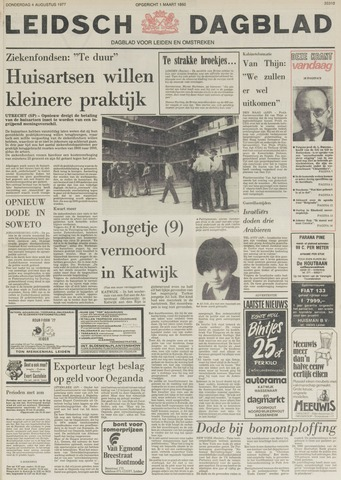 Leidsch Dagblad 1977-08-04
