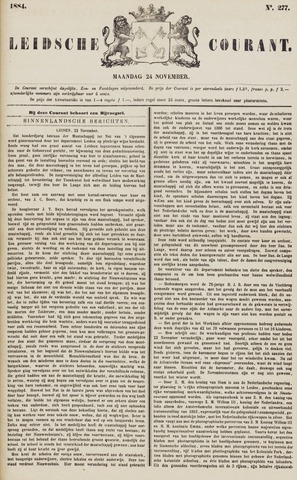 Leydse Courant 1884-11-24
