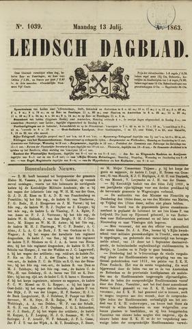 Leidsch Dagblad 1863-07-13