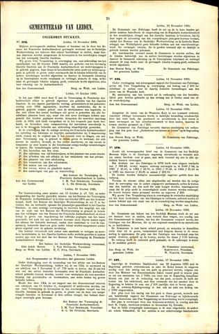 Handelingen van de Raad 1885-11-14