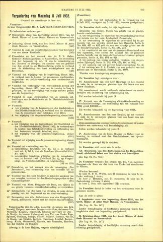 Handelingen van de Raad 1932-07-11