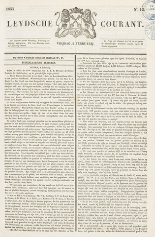 Leydse Courant 1855-02-02