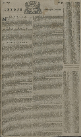 Leydse Courant 1748-04-29