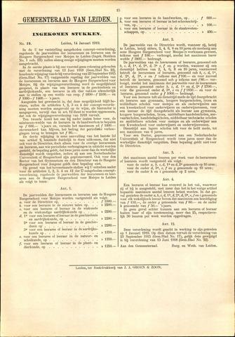Handelingen van de Raad 1919-01-14