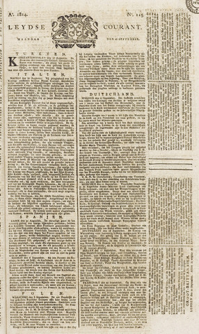 Leydse Courant 1814-09-26