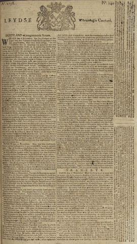 Leydse Courant 1758-11-22
