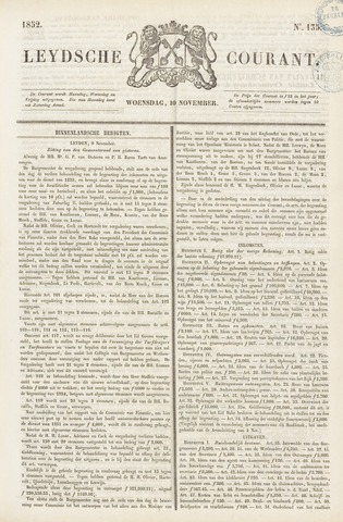 Leydse Courant 1852-11-10