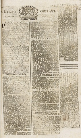 Leydse Courant 1814-08-01