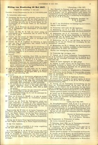 Handelingen van de Raad 1917-05-10
